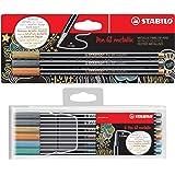 Premium-Filzstift - STABILO Pen 68 metallic (6er Kunststoffetui + 3er Blister)
