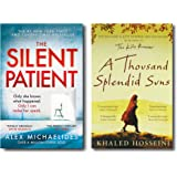 The Silent Patient + A Thousand Splendid Suns (2 Books Combo with Free Customized Bookmarks)