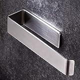 YIGII Porte-serviettes adhésif – Anneau porte-serviettes en acier satiné pour meuble et mur, 21 cm