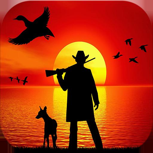 canard-a-la-chasse-3d-plongeur-canards-chasser-les-oiseaux-deau-sur-le-cote-belle-riviere-dans-la-sa