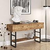 Yurupa Table de Console,Table d'appoint,Table d'Entrée,Buffet,Couloir,pour Salon,Chambre,Style Industriel Vintage ML23-A