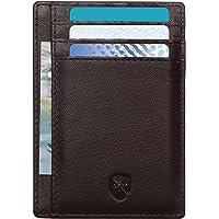 ALLEN & MATE Leather Card Holder Slim Wallet for Men, RFID Blocking Minimalist Wallet Credit Card Holder, Holds up to 10…