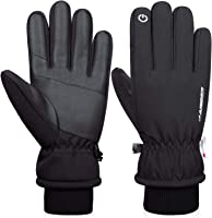 anqier Winterhandschuhe Herren Damen Touchscreen Fahrradhandschuhe Männer Winter Wasserdicht Gloves Thinsulate...