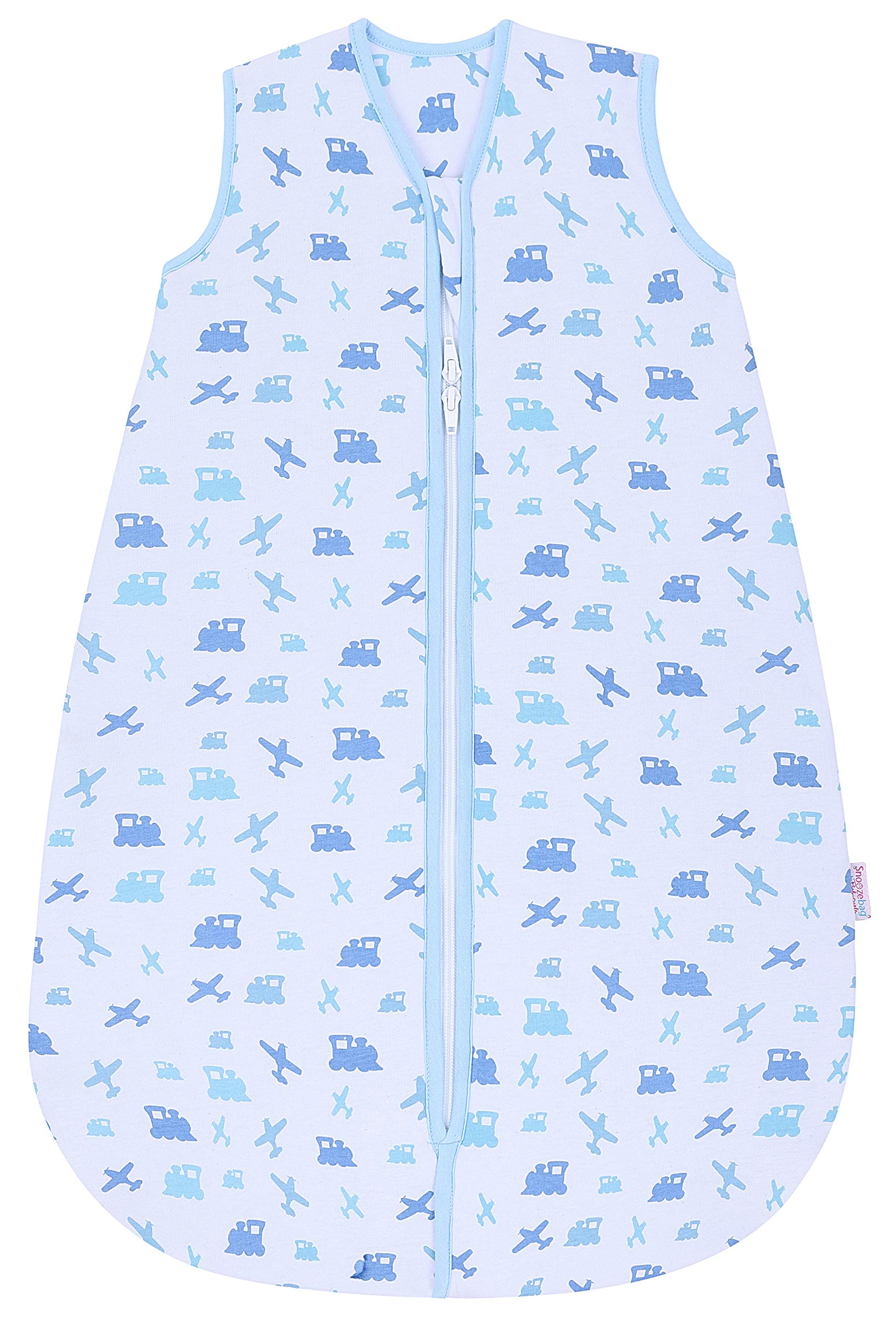Snoozebag – Saco de dormir para bebé (100% algodón, 2,5 Tog), color azul azul azul Talla:3-6 años