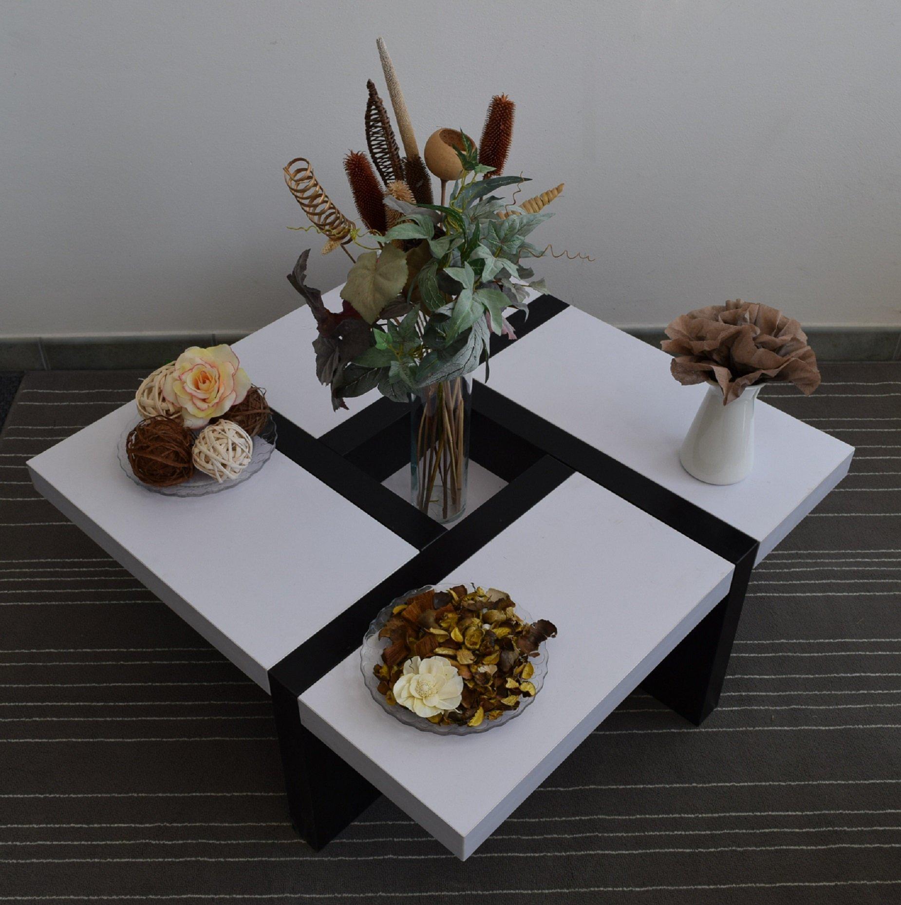 Rebecca Mobili Table de Salon Table Basse Bois Design Moderne Sejour ... 5477f87f530e