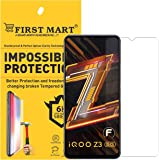 FIRST MART - A BRAND WORTH REMEMBERING Tempered Glass Screen Protector for iQOO Z3 5G - Transparent Impossible Full Flat Scre