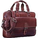 STILORD 'Aurora' Bolso de Negocios o maletín de Cuero para Mujeres Bolsa de portátil o MacBook de 13.3 Pulgadas para Damas de