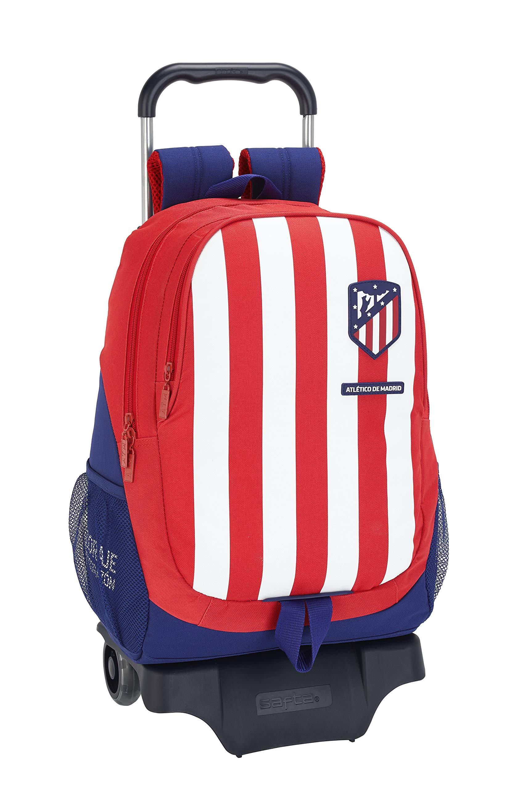 818LrrMlkYL - Mochila Escolar de Atlético de Madrid Oficial con Carro 330x150x430mm