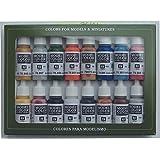 Vallejo val899Peinture Model Color Folkstone Basics Peinture acrylique–Couleurs assorties (Lot de 16)