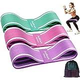 Autkors Elastici Fitness(3 Pezzi),Bande Elastiche di Resistenza Fasce Elastiche Fitness Antiscivoli in Tessuto con 3 Livelli