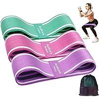 Autkors Elastici Fitness(3 Pezzi),Bande Elastiche di Resistenza Fasce Elastiche Fitness Antiscivoli in Tessuto con 3…