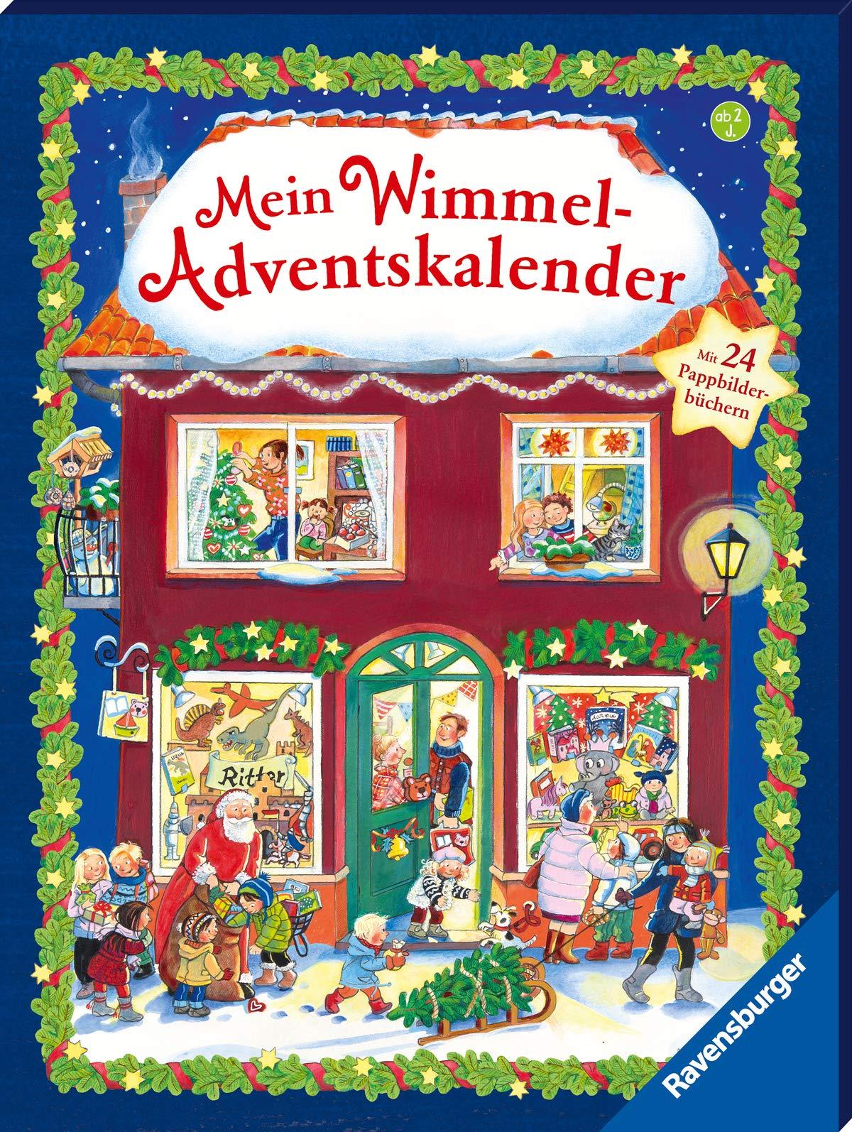 Mein Wimmel-Adventskalender: Mit 24 Pappbilderbüchern: Mit 24 Pappbilderbchern