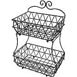 Esylife - Corbeille à deux étages pour pain ou fruits