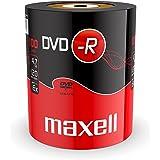 Maxell 275733 DVD-R 4.7 GB 16X 120 min Video (100 Discos – Envoltura retráctil)
