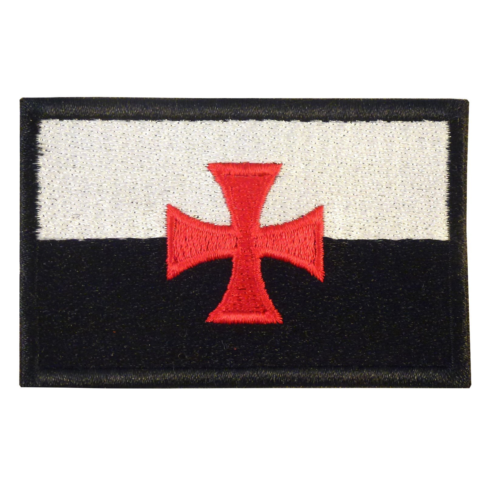 Knights Templar Cross Crusaders Tactical Morale Ricamata Ricamo Hook&Loop Toppa Patch