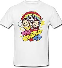 mimoma T-Shirt Maglietta Maglia Me Contro Te Ragazzi 100% Poliestere Lavabile in Lavatrice