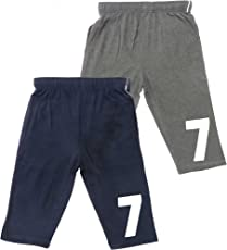 ABITO Boys' Cotton Shorts 3/4th Length (Jamaican) - Pack of 2