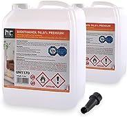 Höfer Chemie 2 x 5 L (10 Liter) Bioethanol 96,6% Premium - TÜV SÜD zertifizierte QUALITÄT - für Ethanol Kamin, Ethanol Feuer