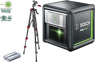 Bosch Kreuzlinienlaser Quigo green Set (2x Batterien, grüne Laserdiode, Arbeitsbereich: 12 Meter, im Karton)