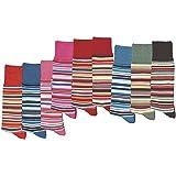 SocksPur - Calze al ginocchio per bambini, confezione da 3 pezzi, completamente a strisce, ideali per ragazze e ragazzi