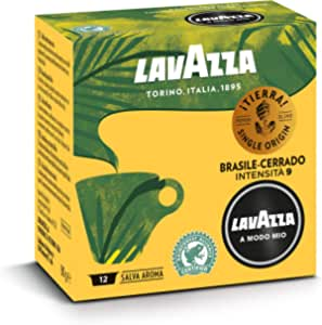 Lavazza Capsule Caffè A Modo Mio ¡Tierra! Brasile Cerrado, 10 Confezioni da 12 Capsule [120 Capsule]