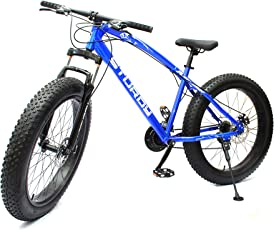 Sturdy Bike Fat Mountain Bike With 26X4 Inch Tyres - (Blue)