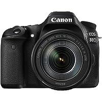 Canon EOS 80D DSLR Digitalkamera inkl. EF-S 18-135mm F3.5-5.6 IS USM Objektiv (24,2 Megapixel, 7,7 cm (3 Zoll) Display…