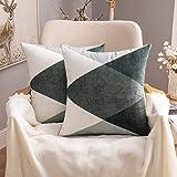 MIULEE Kussensloop, decoratief geometrisch patroon, decoratief kussen, Scandinavisch sofakussen, kussenovertrek, bankkussen,
