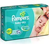 Pampers Baby Dry Diapers, New Born, 46 Count