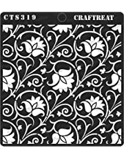 """thecraftshop CrafTreat Arabesque Reusable Template Stencil for Art and Craft, Mixed Media, Wall Painting, Home Decor, DIY Albums, Card Making (6""""X6"""")"""