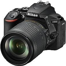 Nikon D5600 Kit AF-S DX 18-105 VR Spiegelreflexkamera (8,1 cm (3,2 Zoll), 24,2 Megapixel) schwarz