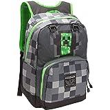 JINX Zaino Minecraft Creepy Creeper Grey, Equipaje Unisex Niños, Multicolor (Multicolore), 21x15x43 Centimeters (W x H x L)