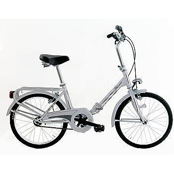 """FREJUS Microbike Graziella da 20""""–Bicicletta pieghevole unisex, 1velocità, acciaio, bianco"""