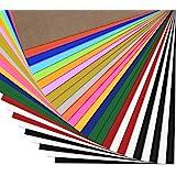 Plotterfolie Textil -25 Pack Heat Transfer Vinyl 30.5cm*25.4cm,16 Farben,Flexfolie für Cricut & Silhouette Cameo, BONUS…