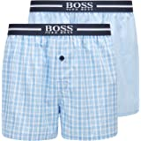 BOSS Mens NOS Boxer EW 2P Two-Pack of Pyjama Shorts in Cotton poplin