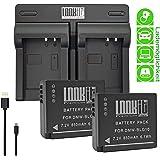 LOOKit® - 2X Premium Batterie BLG10-850mAh + Double Chargeur pour Panasonic LUMIX DC TZ200 TZ202 GX9 TZ90 TZ91 TZ100 TZ101 TZ80 TZ81 GX80