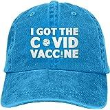 J'Ai Mon vaccin Cov-id 1 réglable lavé Unisexe Papa Chapeau Casquette de Camionneur Chapeau Casquette en Denim Casquette de B