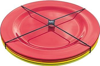 zak! BBQ Speiseteller, 4er-Set, Ø 28 cm, hot pop