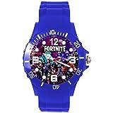 TAPORT® - Reloj de silicona azul para los fans de Fortnite, color azul