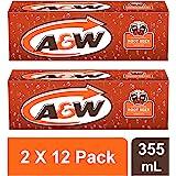 A&W Root Bier 355ml Blikken (2 X 12 Pack) - Totaal 24 Blikken