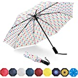 Eono by Amazon - Ombrello Portatile Automatico Antivento, Ombrello Pieghevole Compatto, Folding Umbrella, con Stecche Rinforz