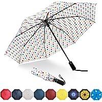 Eono by Amazon - Parapluies Pliants Parapluie Compact Incassable - Coupe-Vent, Léger, Revêtement en Teflon, Voilure…