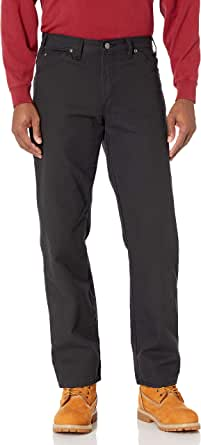 Dickies Men's Flat Front Stretch Twill Pant Slim Fit Bootcut Jeans