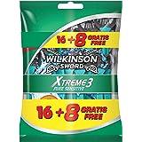 Wilkinson Xtreme 3 Pure Sensitive Wegwerp Scheermessen