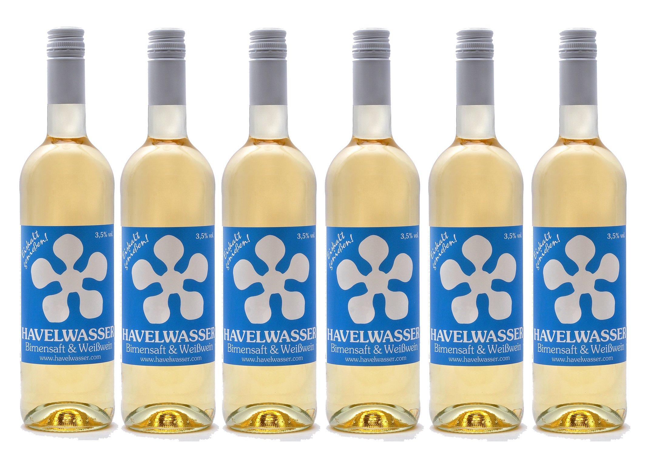 Havelwasser-Birnensaft-Weiwein-6-x-750ml-Glasflasche-Bio