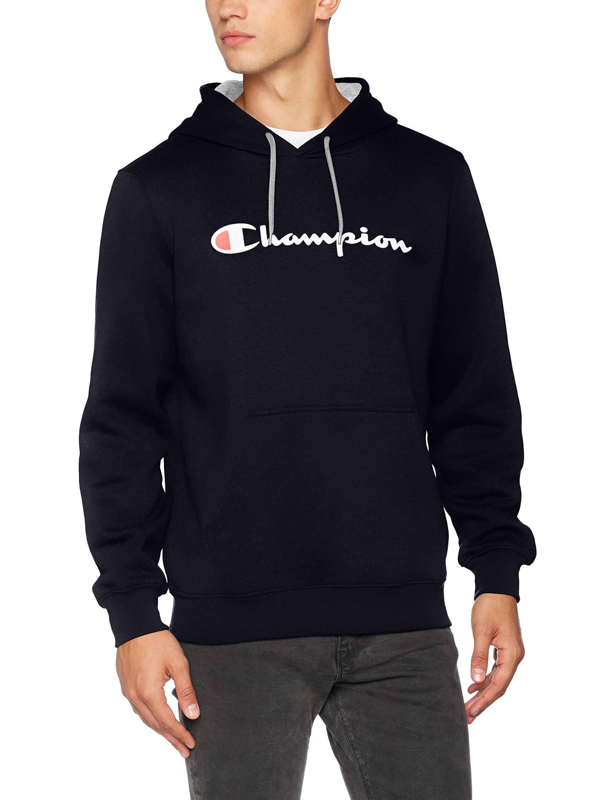 Champion Men's – Classic Logo Hooded Sweatshirt