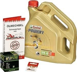 Castrol 10w 40 Öl Hiflo Ölfilter Für Honda Crosstourer Dtc 12 15 Sc70 Ölwechselset Inkl Motoröl Filter Dichtring Auto