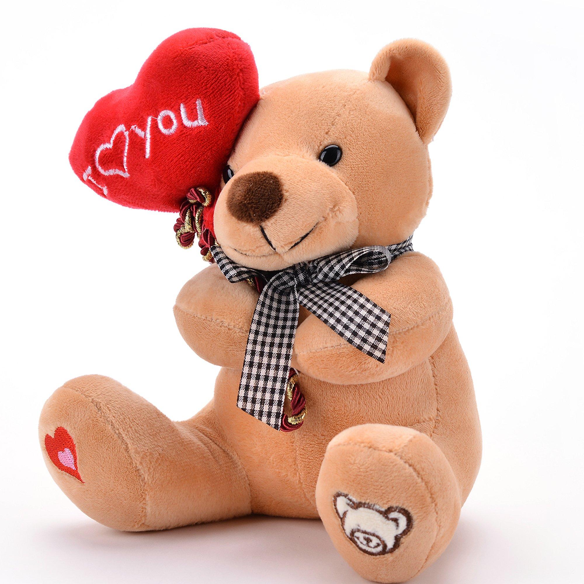 Gloveleya orsacchiotto peluche orso tenendo il cuore ti amo