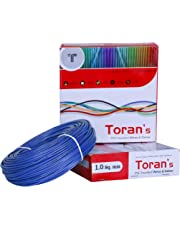 D'Mak™ Toran PVC Insulated Wire and Single Core Flexible Copper Wires and Cables for Domestic/Industrial Electric | Home Electric Wire | 90 Mtr Coil | | Electrical Wire | (1.0 SQ/MM, Blue)