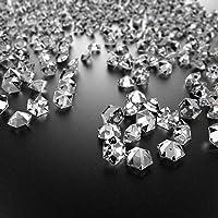 Faburo 3000 Petits Cristaux en Forme de Diamants pour Les décoration de Table 6mm,Mariage Décoration De Table À…